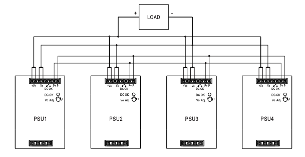 MEAN WELL DDR-480 DC Converter parallel connection