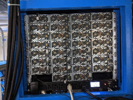 MEAN WELL power supplies in rack