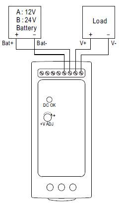 Mean Well DRC-60 Wiring Diagram