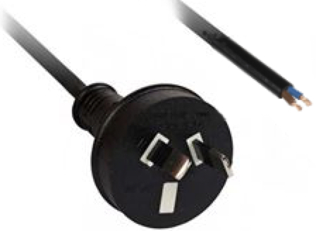 AU Power Cord 1m Tinned Ends