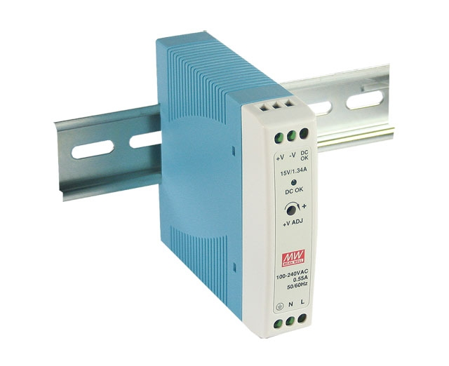 Slimline DIN rail power supply