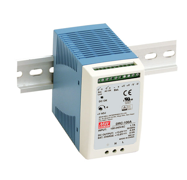 Mean Well DRC-100 DIN rail mount UPS Power Supply