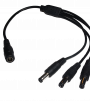 4 Way 2.1mm DC Jack Splitter Cable