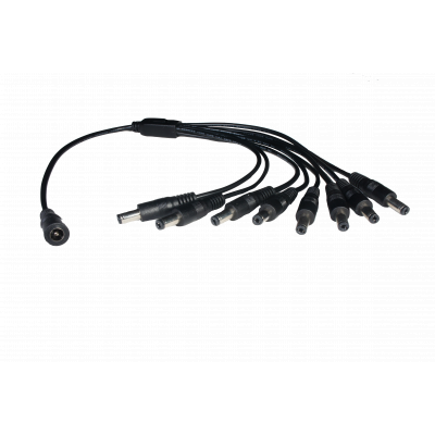 8 Way 2.1mm DC Jack Splitter Cable